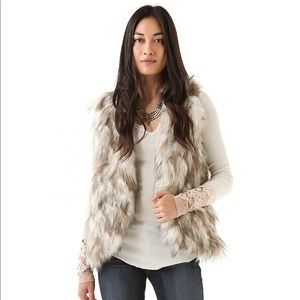 FP Call of the wild reversible faux fur vest